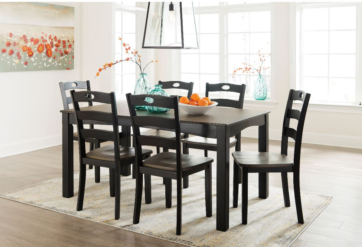 Froshburg Dining Room Table & 6 Chairs  / $18.99 A Week