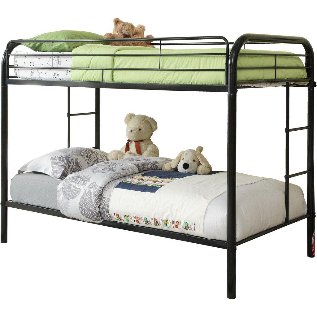 Metal Twin/Twin Black Bunk Bed  / $13.39 A Week