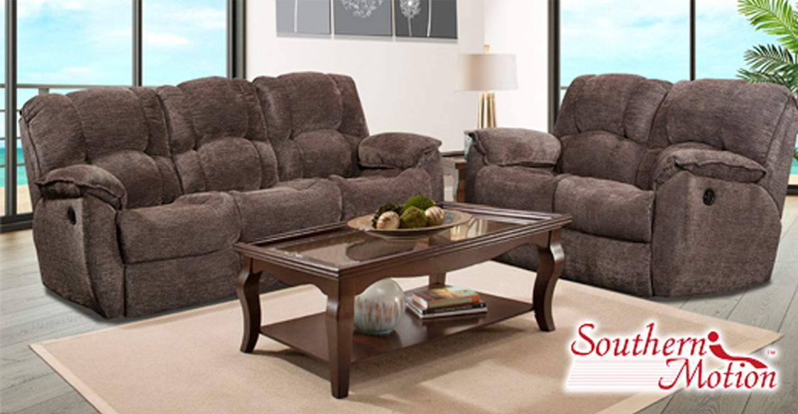 Boardwalk Reclining Sofa and Stationary Loveseat  / $31.19 A Week