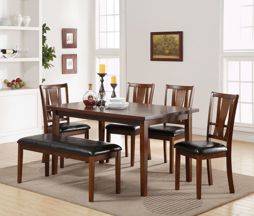 Dixon Dining Table Four Chairs And Bench Majik Rent To Own