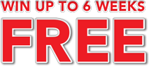 Scratch up and win up to 6 weeks FREE! Rent today! SKIP ALL PAYMENTS in December and January!